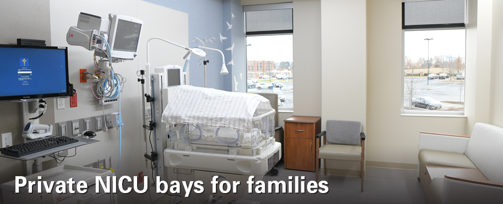 Private NICU bays for families